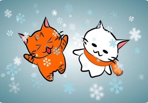 Snowfall and Nyanko