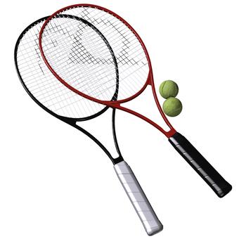 網球拍和網球01