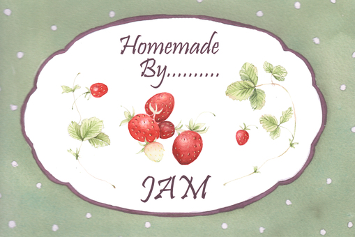잼 레이블 - 딸기