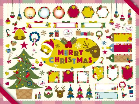 クリスマスフレームセット_A