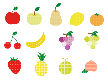Simple fruits various