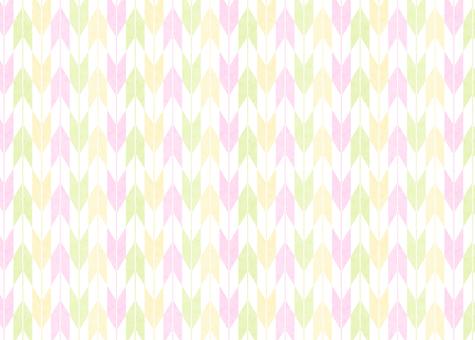 ひな祭りカラーの矢絣4