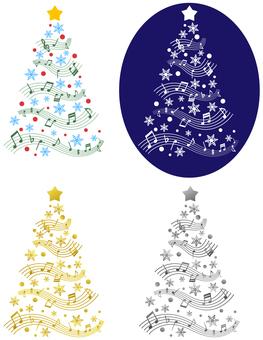 Christmas tree style music image
