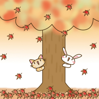 Usagi autumn leaves