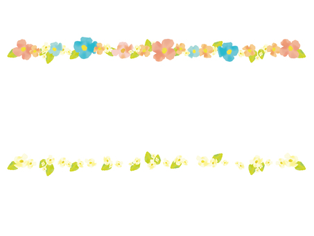Watercolor-style flower line