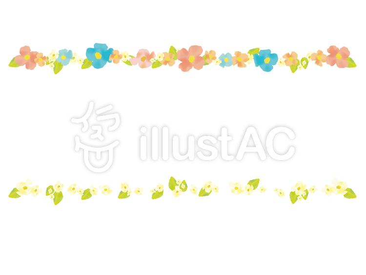 水彩風の花のラインイラスト No 97157無料イラストならイラストac