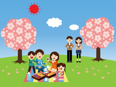 Holiday season (cherry blossom viewing)