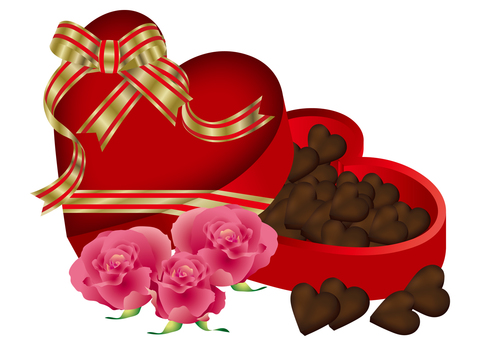 Heart Chocolate & Roses 1