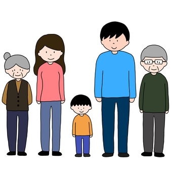 家族 3世代