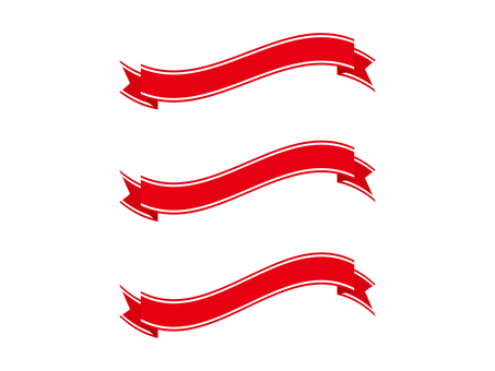 Ribbon 10 wire - red
