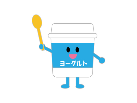 Illustration of yogurt