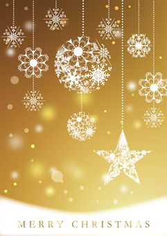 Christmas _ Gold _ Vertical background 2191