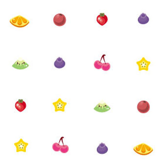 Fruit wallpaper white