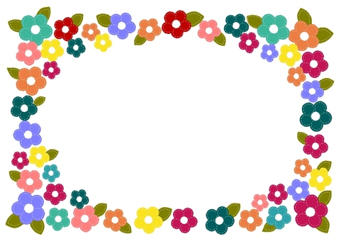 Stitch flower frame