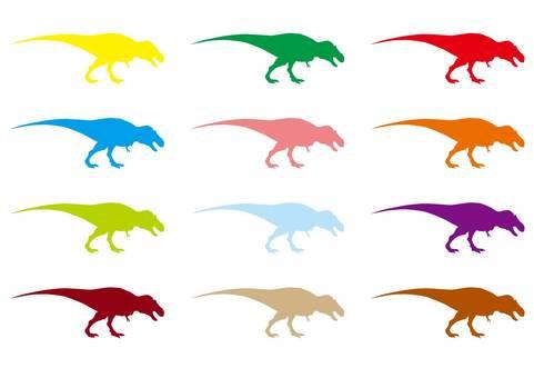 Colorful Tyrannosaurus