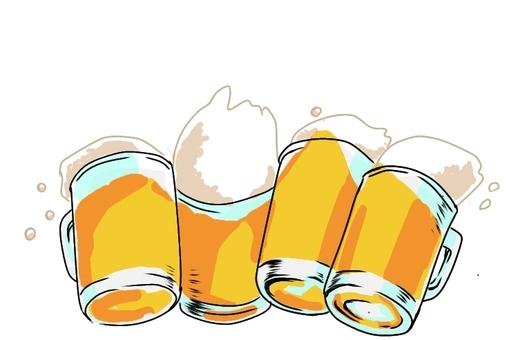 모두 맥주.