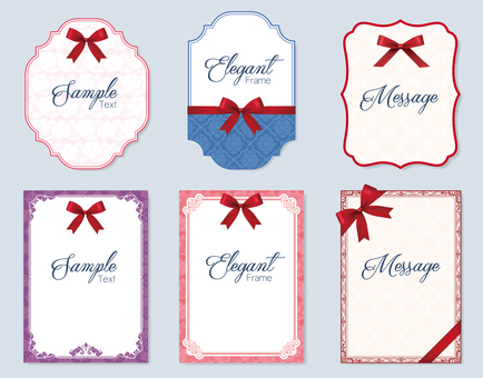 Elegant messaging card with ribbon