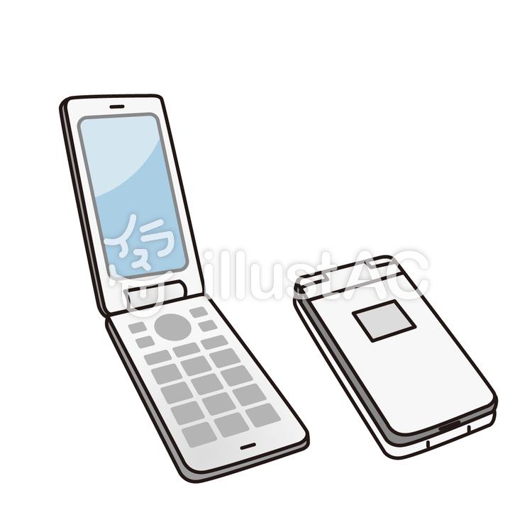 折りたたみ式携帯電話イラスト No 1007943無料イラストなら