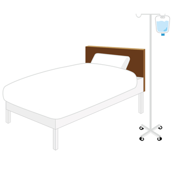 Illustration of a hospital bed