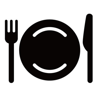 Rounded knife fork icon 02
