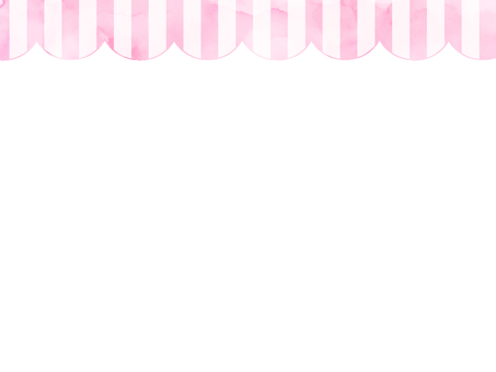Watercolor stripe frame 1 pink
