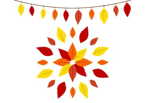 葉っぱ飾り・秋色