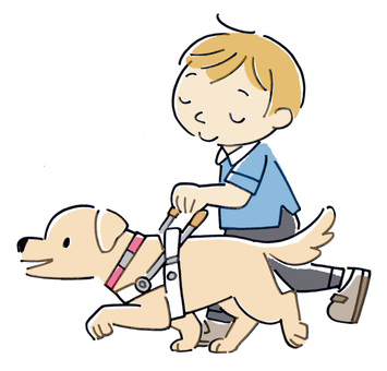 Blind guide dog
