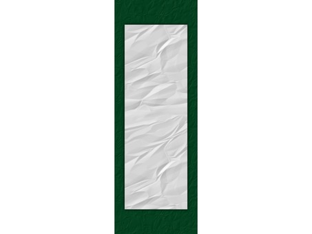 Beginning of writing Paper display hanging in eight cut size deep green