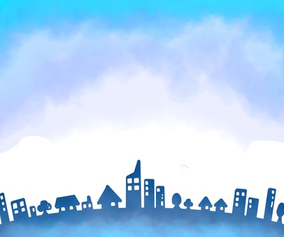 Sky and town