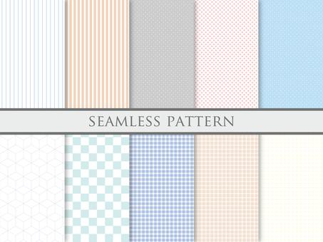 Set of spring color patterns