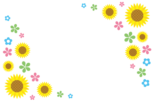 Sunflower frame
