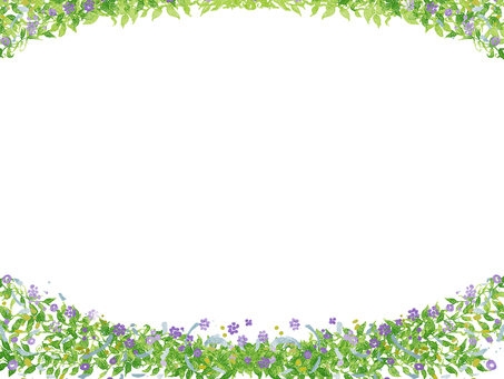 Watercolor floral frame ⑦