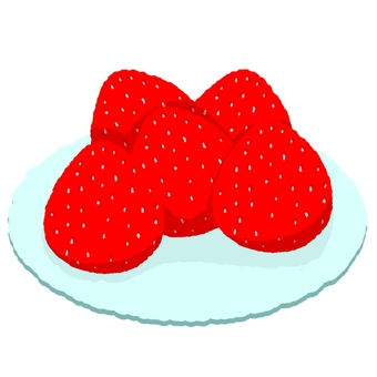 Strawberry on a plate
