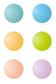 Pastel color button 5