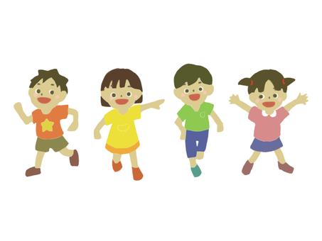 走る子供たち 幼児 小学生