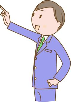 A man pointing at a finger