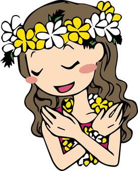 Hula Girl Aloha