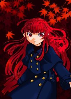 猩紅色的頭髮女孩
