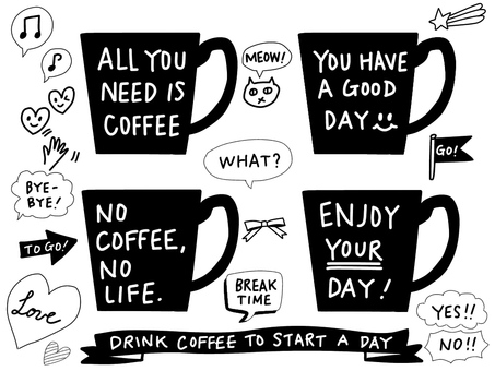 手寫的咖啡