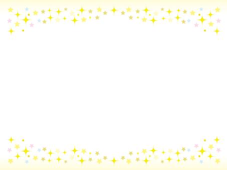 Glittering star frame