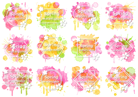 Watercolor material 7 Spring color