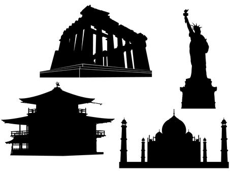 Architecture silhouette