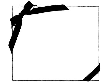 Notepad (black ribbon) Black and white