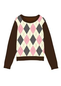 Argyle pattern sweater