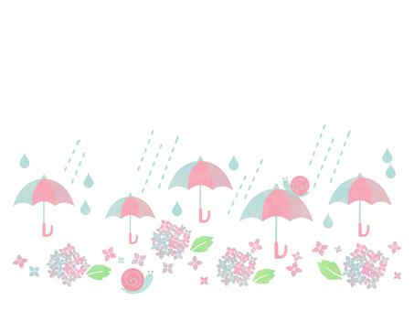 Rainy season illustration 01