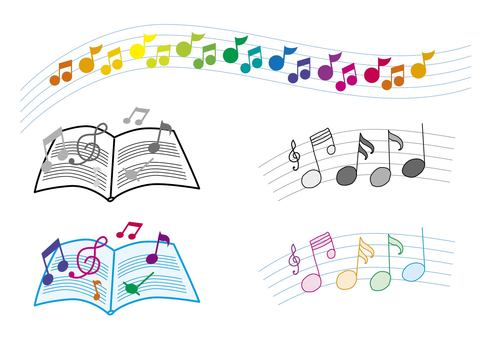 Musical note ♪ Music material