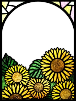 Stained glass frame sunflower