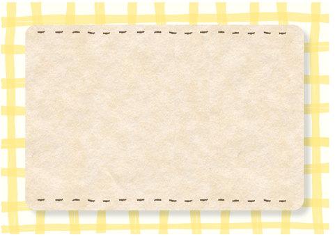 Natural frame Handwritten wind check