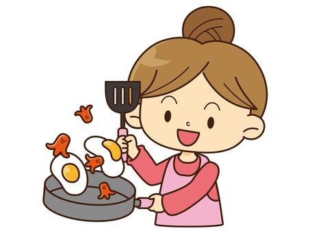 Family Illustration _ Mom _ Cuisine