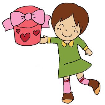 Girl giving present 2